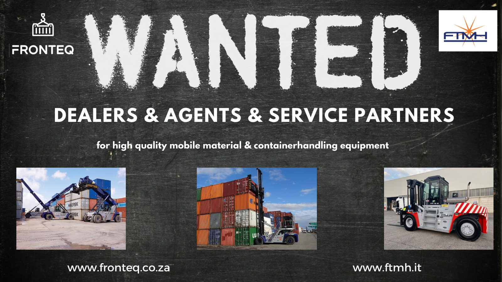 Dealers Agents Wanted | Heavy Duty Forklifts | Container Handling Equipment